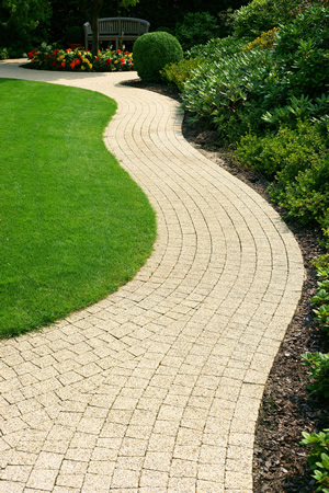 block paving garden path